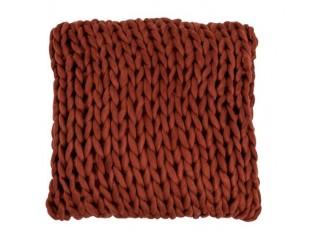 Pletený vínový polštář Tricot - 40*40 cm