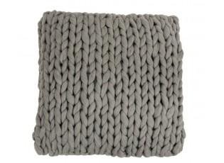 Pletený šedý polštář Tricot grey - 40*40 cm
