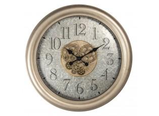 Kovové nástěnné hodiny s ozubenými kolečky - Ø 67*9 cm / 1*AA
