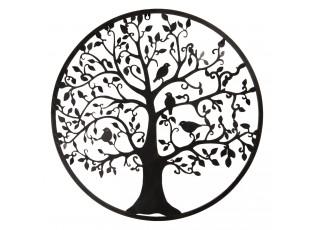 Nástěnná dekorace Strom s ptáky - Ø 61*2 cm