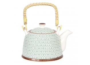 Porcelámová konvice na čaj se sítkem - 18*14*12 cm / 0,7L