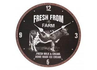 Nástěnné hodiny Fresh from the farm – Ø 34*3 cm / 1*AA