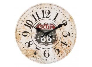 Vintage nástěnné hodiny Route 66 – Ø 30*3 cm / 1*AA