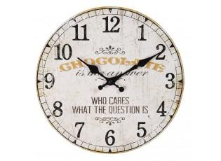 Vintage nástěnné hodiny Chocolate – Ø 30*3 cm / 1*AA
