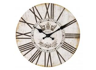 Vintage nástěnné hodiny s římskými číslicemi Paris – Ø 30*3 cm / 1*AA