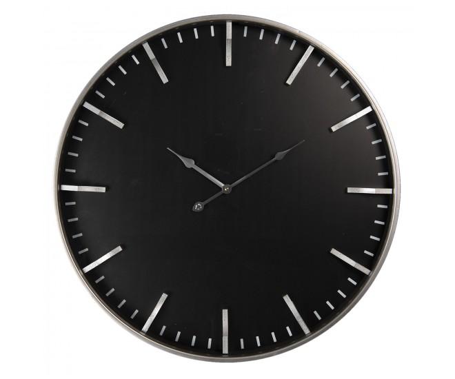 Černé minimalistické nástěnné hodiny Cadice – Ø 60*6 cm / 1*AA