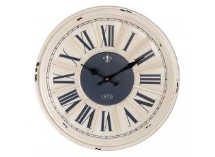 Kovové nástěnné hodiny s římskými číslicemi 1879 – Ø 40*3 cm / 1*AA