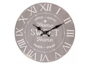 Nástěnné hodiny Home Sweet Home – Ø 34*4 cm / 1*AA