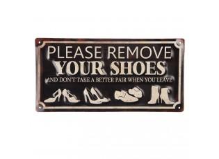 Nástěnná cedule Remove shoes - 30*15 cm