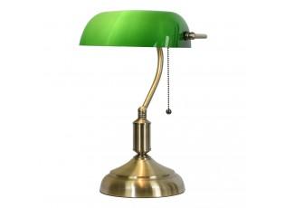 Stolní lampa se zeleným skleněným stínidlem GreenBank