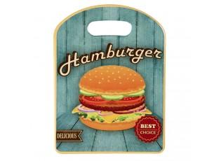 Malé servírovací keramické prkénko Hamburger - 15*20 cm