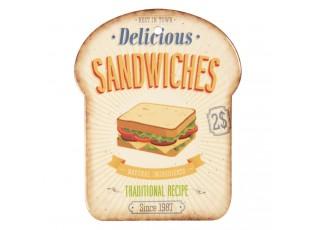 Malé servírovací keramické prkénko Sandwiches I - 15*20 cm