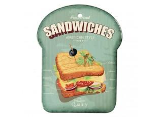 Malé servírovací keramické prkénko Sandwiches - 15*20 cm