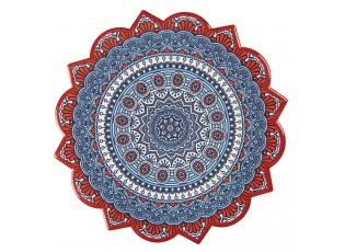 Keramické kulaté servírovací prkénko, doplněné krásným motivem na horní straně a protiskluzovou korkovou podložkou na spodní str