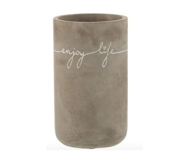 Betonová váza Enjoy Life - Ø 11*19 cm