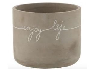 Betonový květináč Enjoy Life L - Ø 16*13 cm
