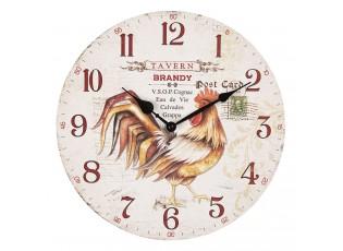 Nástěnné hodiny Tavern Brandy – Ø 34*3 cm / 1*AA