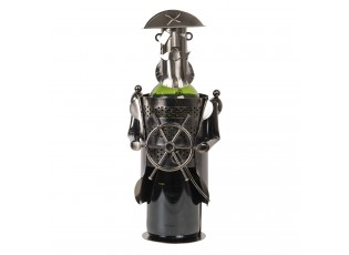 Držák na láhev vína v designu kapitána Chevalier - 10*12*20 cm