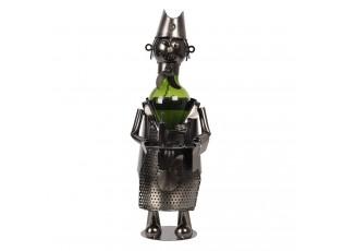 Kovový stojan na víno v designu číšníka Chevalier - Ø 10*30 cm