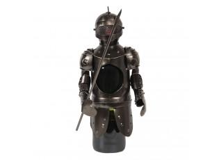 Kovový držák na láhev vína ve tvaru rytíře Chevalier - Ø 10*22 cm