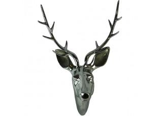 Sříbrná nástěnná dekorace hlava jelena Deer M - 31*22*46cm