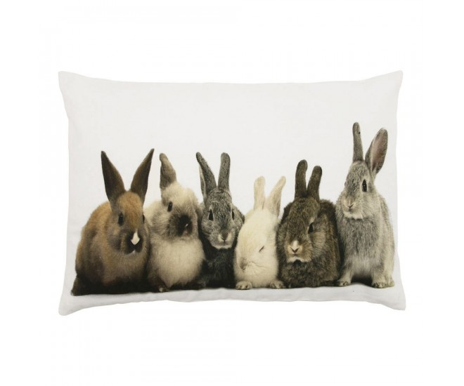 Bavlněný polštář s králíčky - 50*10*35cm