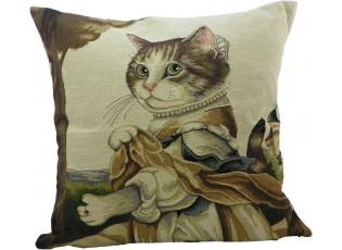 Gobelínový polštář Kočka hraběnka - 45*15*45 cm
