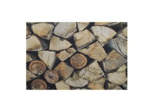 Rohožka před dveře s motivem dřevěných polen - 75*50*1cm