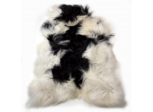 Bílo-černá ovčí kůže z Islandské ovce Iceland - 115*75*5cm