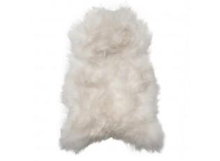 Přírodně bílá kůže z Islandské ovce Iceland white - 100*70*5cm