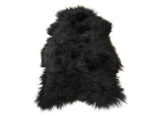 Černá dekorativní kůže z ovčí kůže - 115*75*5cm