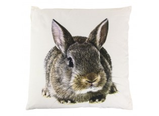 Bílý bavlněný polštář s králíčkem - 50*10*50cm