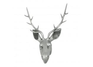 Sříbrná nástěnná dekorace hlava jelena Deer L - 45*30*65cm