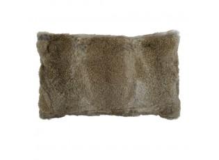 Polštář z králičí kůže Rabbi hnědá - 50*30*10cm
