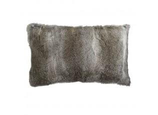 Polštář z králičí kůže Rabbi šedá - 50*30*10cm