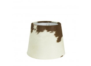 Stínidlo lampy z kravské kůže hnědá/ bílá - Ø 20*17cm