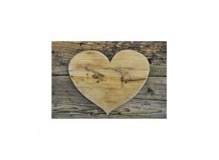 Malá rohožka dřevěné srdce - 40*30*1cm