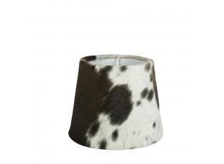 Stínidlo lampy z kravské kůže černá / bílá - Ø20*17cm