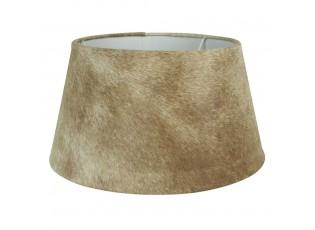 Stínidlo lampy z kravské kůže béžová - Ø 40*22,5cm
