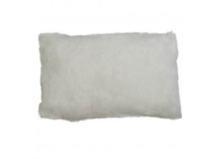 Polštář z králičí kůže Rabbi bílá - 50*30*10cm