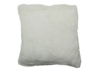 Polštář z králičí kůže Rabbi bílá - 40*40*10cm