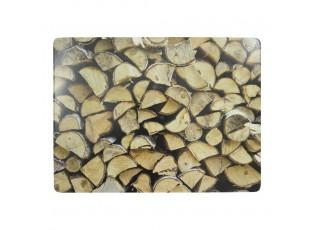 4ks pevné korkové prostírání dřevo Firelace wood - 30*40*0,4cm