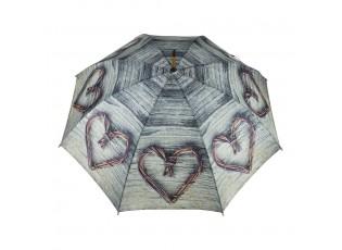 Deštník srdce z větviček Heart Twig - 105*105*88cm
