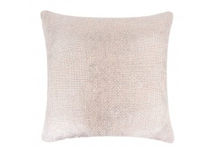 Růžový polštář se stříbrnou patinou Gypsy - 45*10*45cm