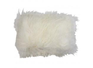 Polštář bílá ovčí kůže kudrnatý dlouhý chlup Curly white - 35*50*10cm