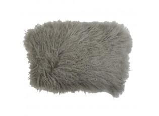 Polštář šedá ovčí kůže kudrnatý dlouhý chlup Curly grey - 35*50*10cm