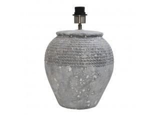 Šedá terakotová stolní lampa bez stínidla Terri - Ø 28*38cm/E27