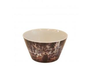 Porcelánová miska s motivem jelena - Ø 13.5*7.5cm