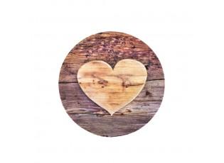 Dezertní talíř dřevěné srdce Wooden heart - 19*19*2cm