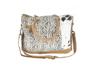 Kožená designová kabelka Nikol - 43*10*32cm